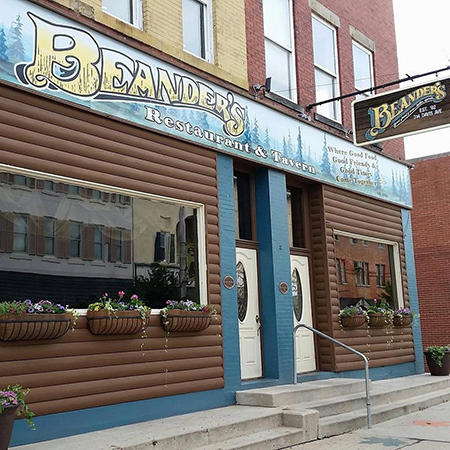 Beander's Restaurant & Tavern Store Front in Elkins, WV